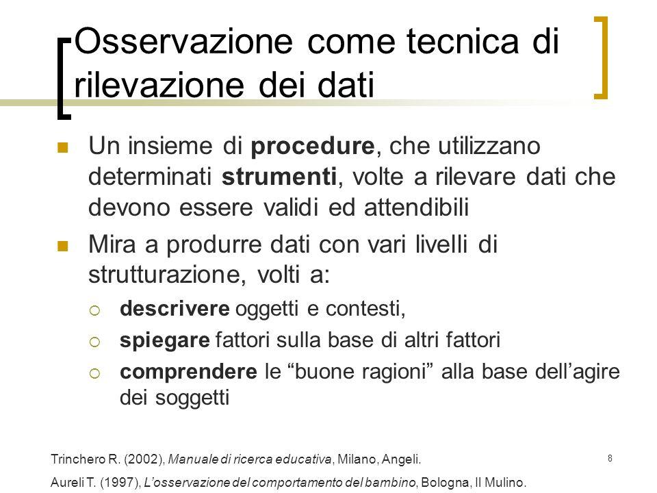 19 Definizione operativa Ipotesi: A.