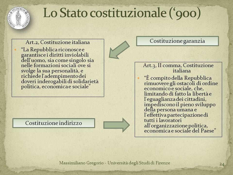 24 Art.2, Costituzione italiana La Repubblica riconosce e garantisce i diritti inviolabili dell'uomo, sia come singolo sia nelle formazioni sociali ov