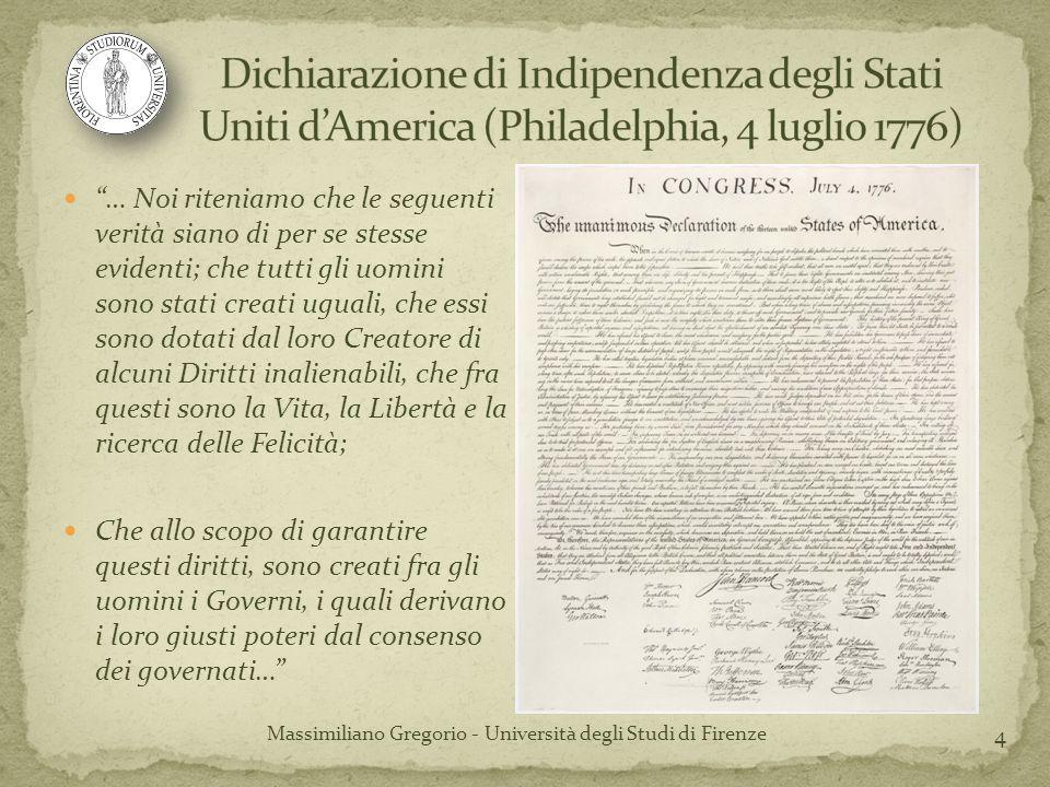 25 Massimiliano Gregorio - Università degli Studi di Firenze COSTITUZIONE SOVRANITÀ (popolare) Stato