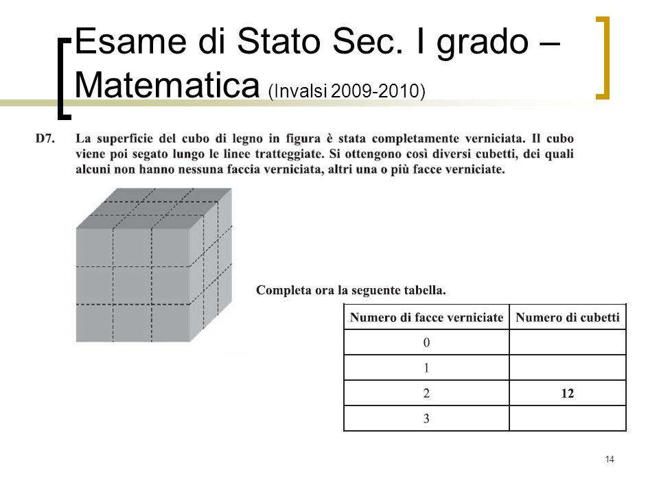 14 Esame di Stato Sec. I grado – Matematica (Invalsi 2009-2010)