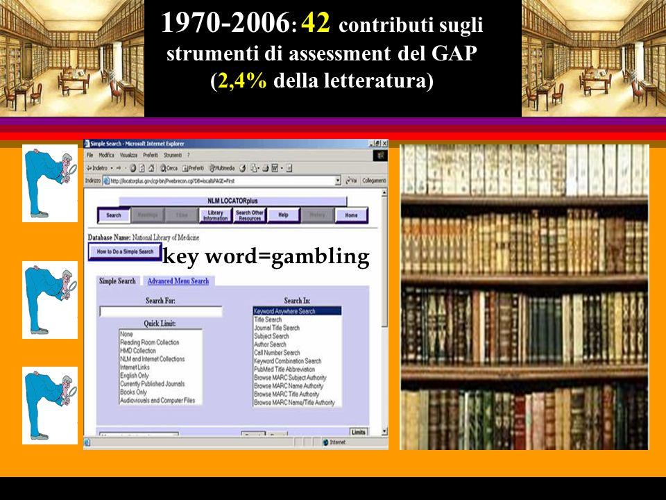 Versione italiana dei South Oaks Gambling Screen (SOGS) di H.R.