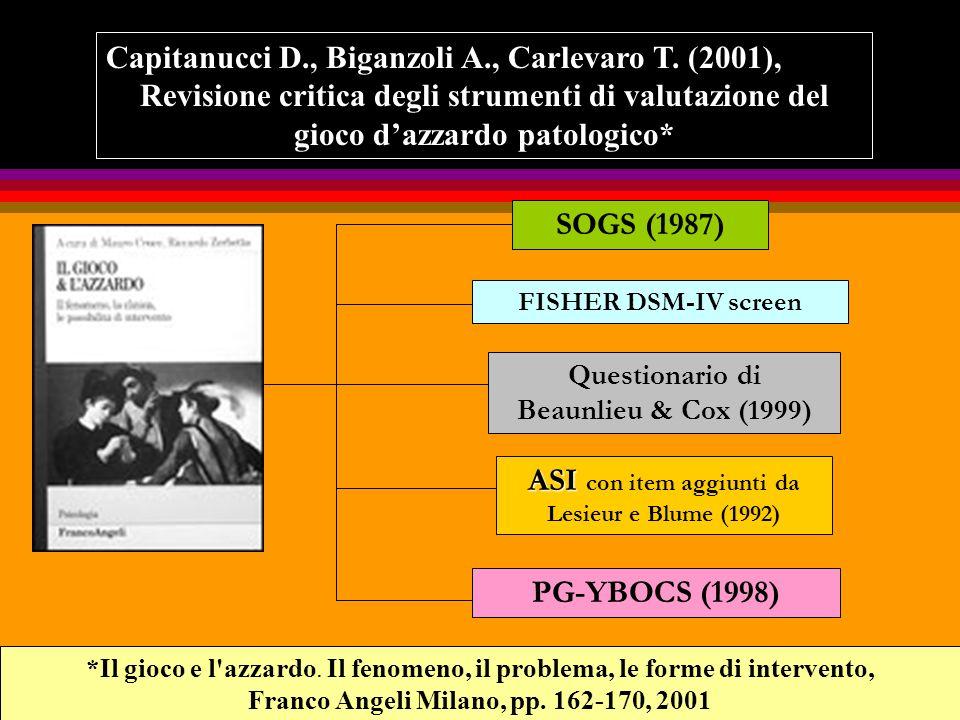 COLLOQUIO CLINICO CLINICO REATTIVIPSICOMETRICI TEST DI PERSONALITA SCALE CLINICHE PROCESSO DIAGNOSTICO INTERVISTESTRUTTURATE Strumenti GAP specifici