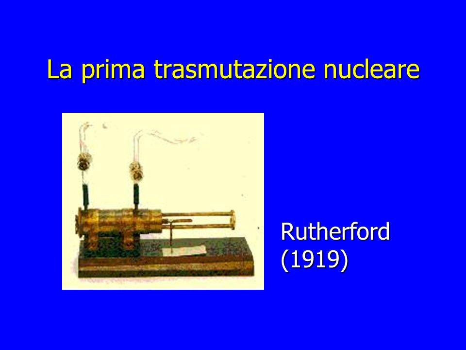 La prima trasmutazione nucleare Rutherford (1919)