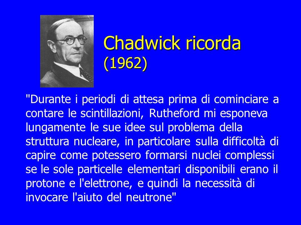 Chadwick ricorda (1962)