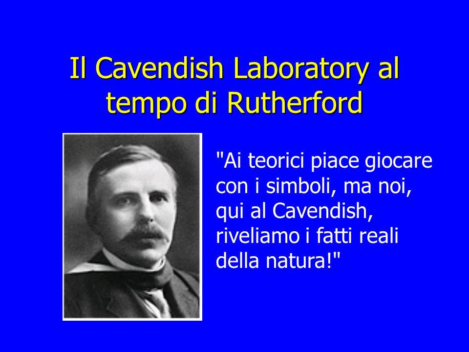 Il Cavendish Laboratory al tempo di Rutherford