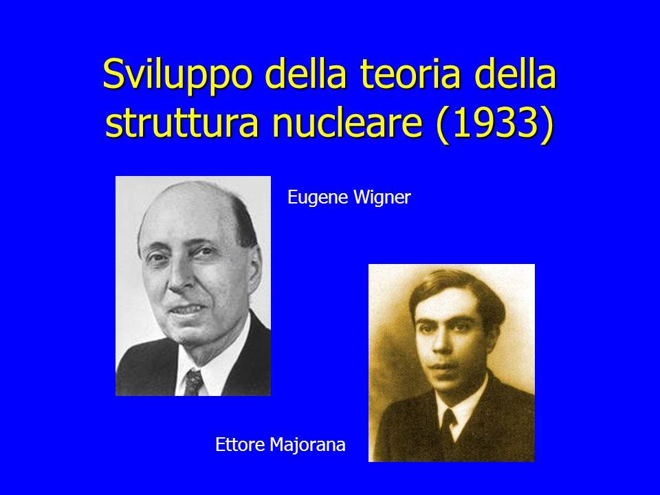 Sviluppo della teoria della struttura nucleare (1933) Eugene Wigner Ettore Majorana