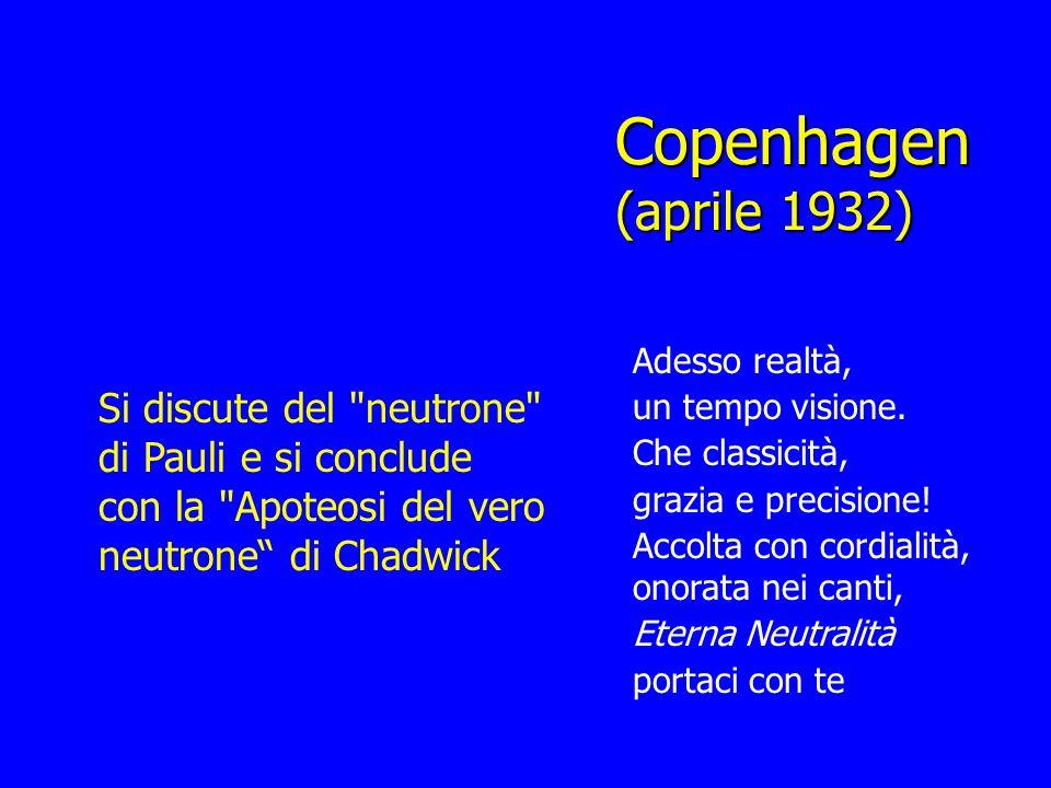 Copenhagen (aprile 1932) Si discute del