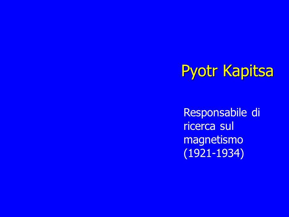 Pyotr Kapitsa Responsabile di ricerca sul magnetismo (1921-1934)