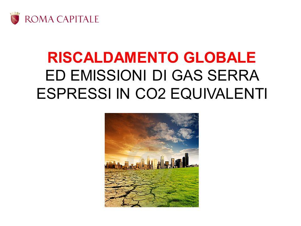 RISCALDAMENTO GLOBALE ED EMISSIONI DI GAS SERRA ESPRESSI IN CO2 EQUIVALENTI