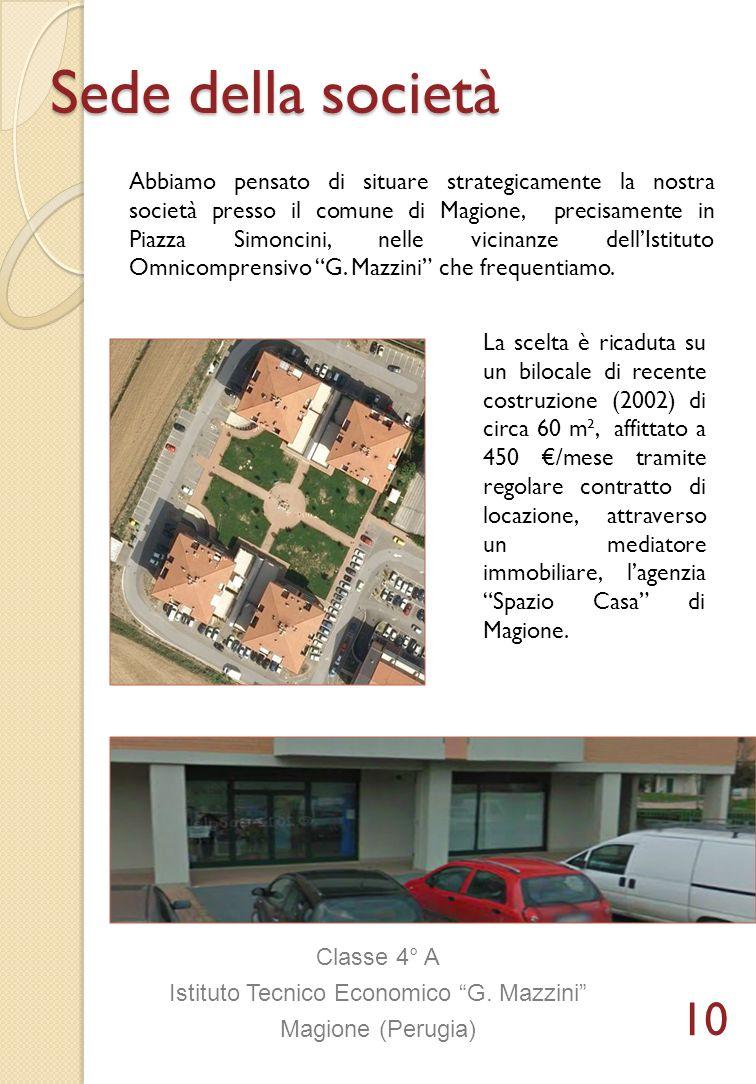 Sede della società Abbiamo pensato di situare strategicamente la nostra società presso il comune di Magione, precisamente in Piazza Simoncini, nelle v
