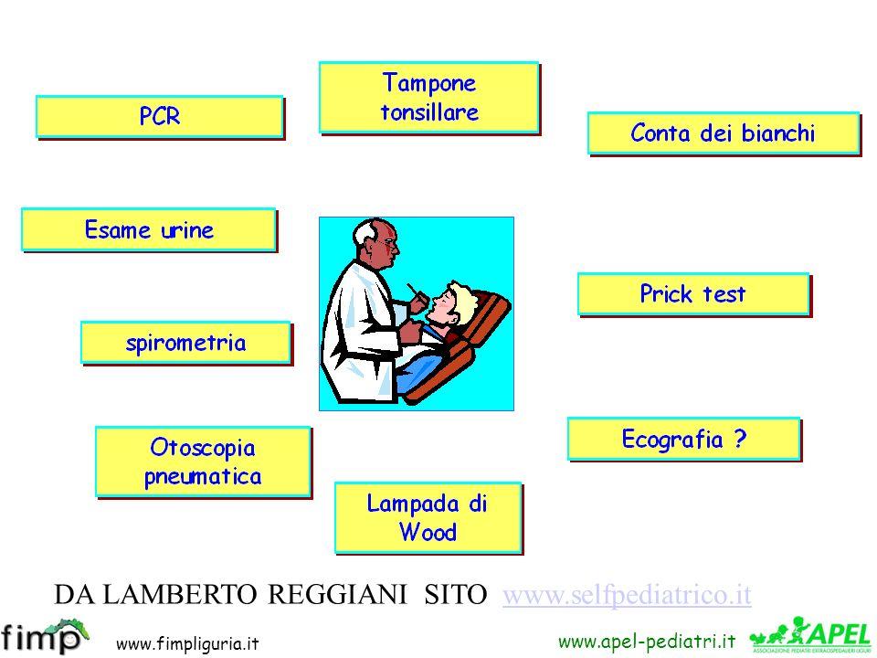 www.fimpliguria.it www.apel-pediatri.it DA LAMBERTO REGGIANI SITO www.selfpediatrico.itwww.selfpediatrico.it