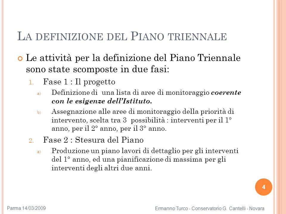 L A DEFINIZIONE DEL P IANO TRIENNALE Le attività per la definizione del Piano Triennale sono state scomposte in due fasi: 1. Fase 1 : Il progetto a) D