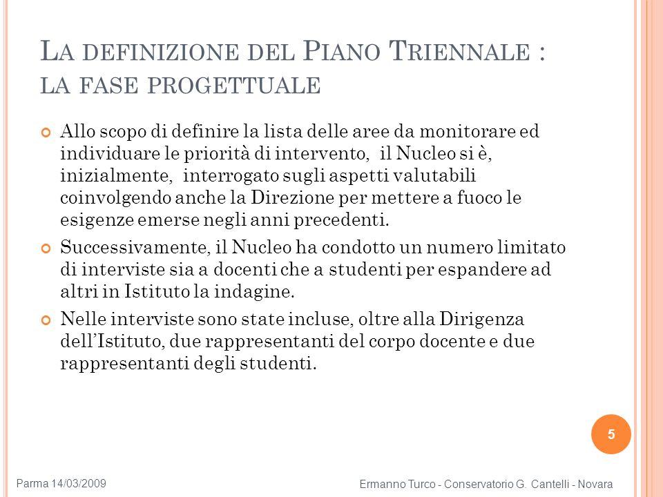 Esempio di report delle interviste a docenti e studenti 1/2 6 Ermanno Turco - Conservatorio G.