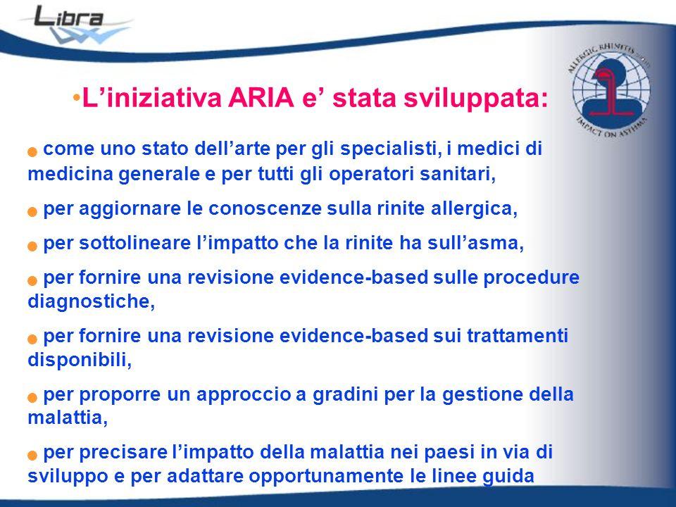 Liniziativa ARIA e stata sviluppata: come uno stato dellarte per gli specialisti, i medici di medicina generale e per tutti gli operatori sanitari, pe