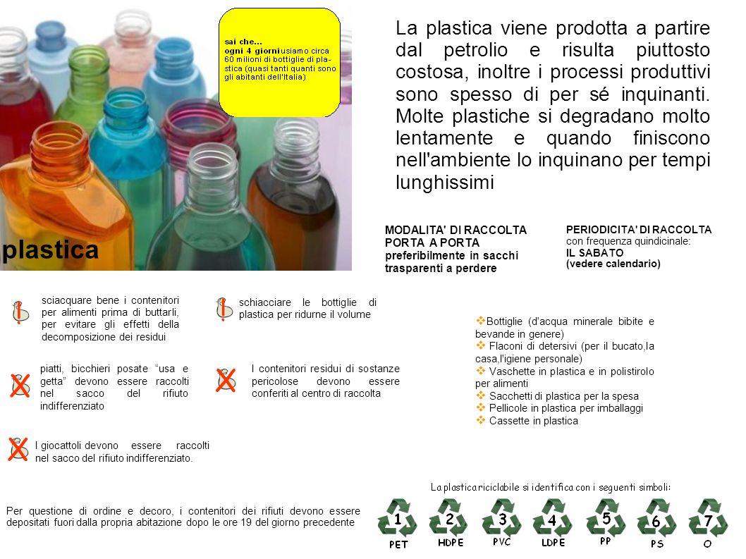 La plastica viene prodotta a partire dal petrolio e risulta piuttosto costosa, inoltre i processi produttivi sono spesso di per sé inquinanti. Molte p