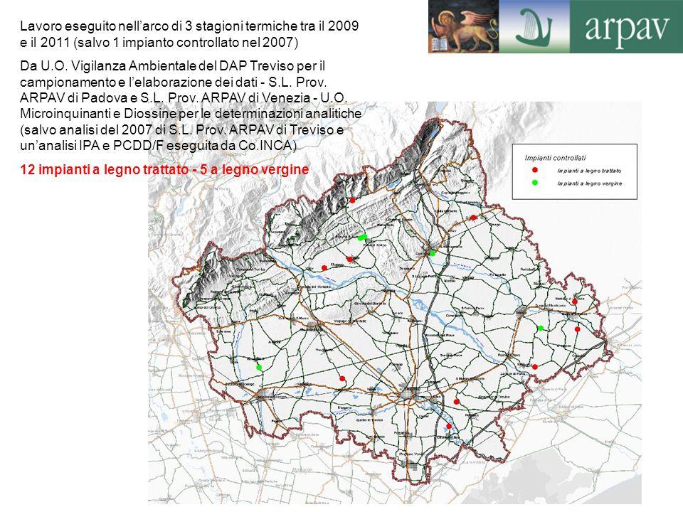 2 Lavoro eseguito nellarco di 3 stagioni termiche tra il 2009 e il 2011 (salvo 1 impianto controllato nel 2007) Da U.O. Vigilanza Ambientale del DAP T