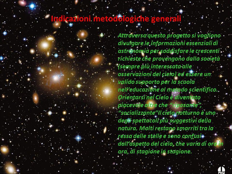 Attraverso questo progetto si vogliono divulgare le informazioni essenziali di astronomia per soddisfare le crescenti richieste che provengono dalla s