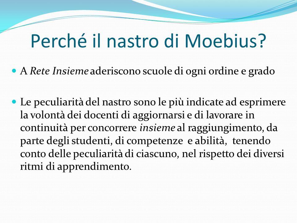 Perché il nastro di Moebius? A Rete Insieme aderiscono scuole di ogni ordine e grado Le peculiarità del nastro sono le più indicate ad esprimere la vo
