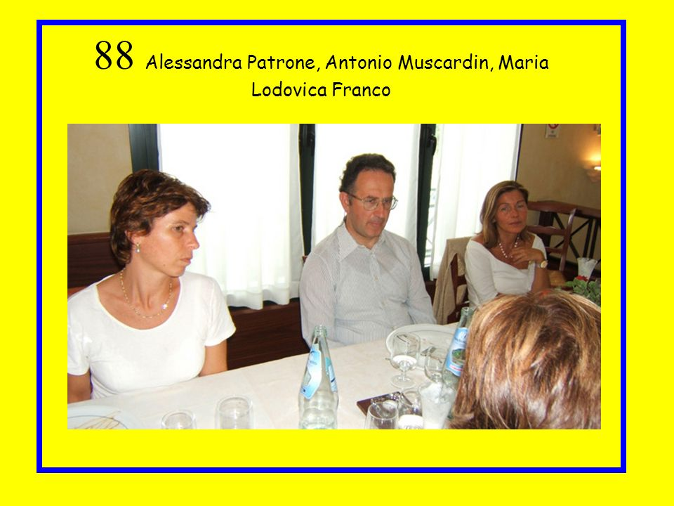88 Alessandra Patrone, Antonio Muscardin, Maria Lodovica Franco