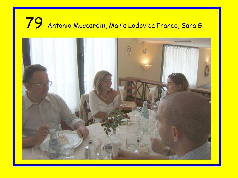 79 Antonio Muscardin, Maria Lodovica Franco, Sara G.