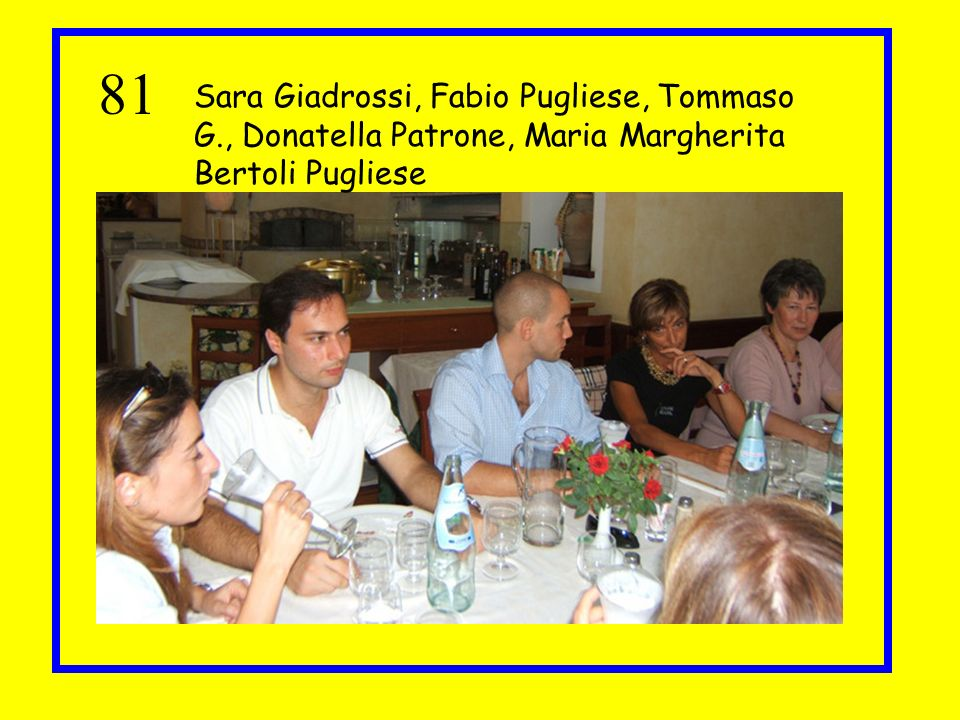81 Sara Giadrossi, Fabio Pugliese, Tommaso G., Donatella Patrone, Maria Margherita Bertoli Pugliese