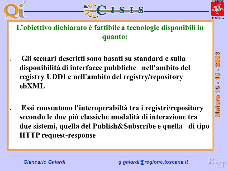 Obiettivo: giungere in modo graduale e scalabile, ad uno scenario completamente federato in cui ciascun registryRegionale è coinvolto in una logica di
