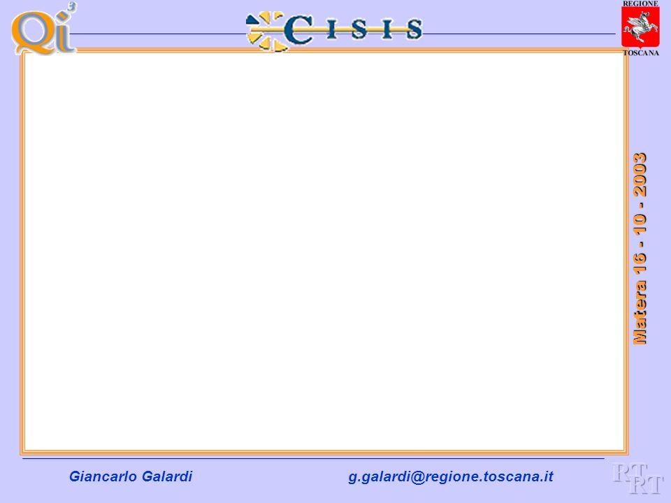Giancarlo Galardig.galardi@regione.toscana.it Matera 16 - 10 - 2003 Le Tematiche su cui lavorare insieme non mancano …… Grazie e Buon lavoro a tutti