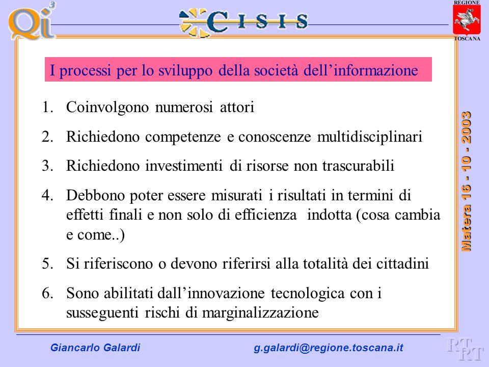 Giancarlo Galardig.galardi@regione.toscana.it Matera 16 - 10 - 2003 Registry Primario