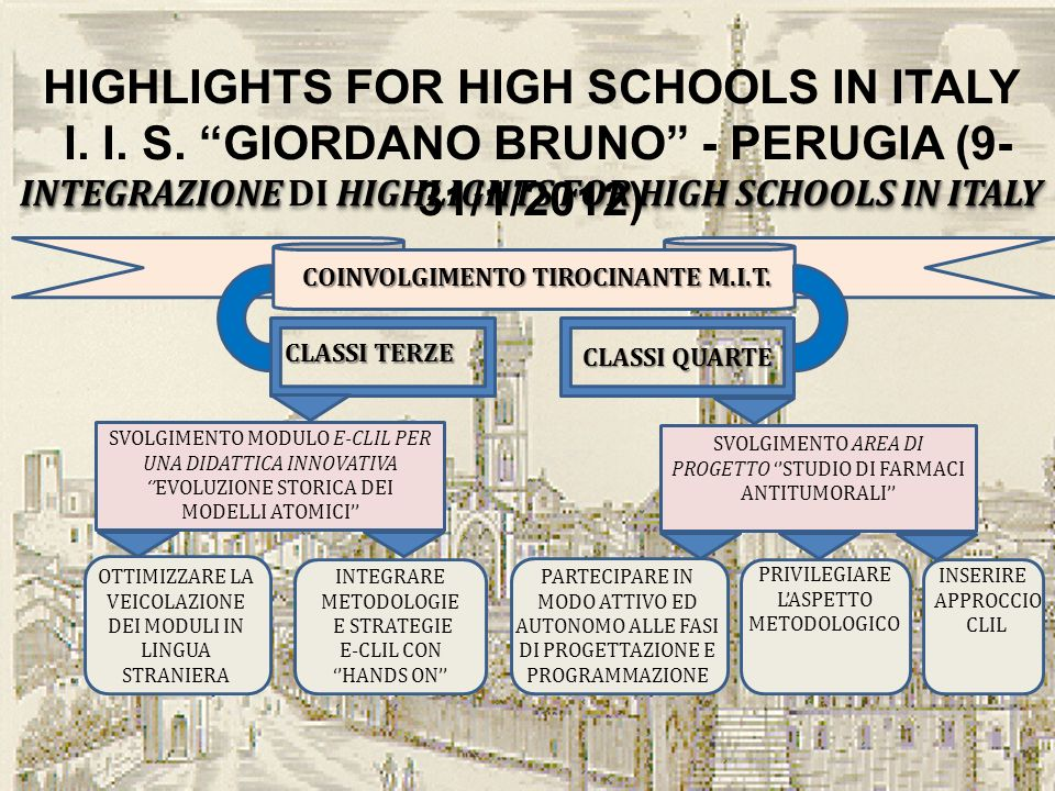 HIGHLIGHTS FOR HIGH SCHOOLS IN ITALY I.I. S.