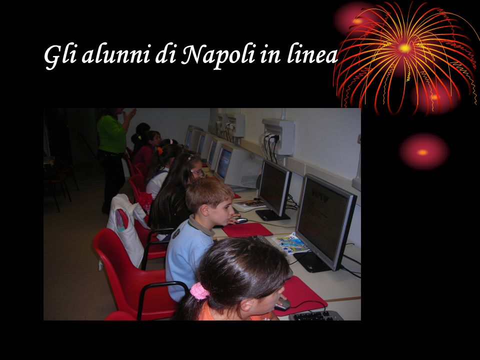 Gli alunni di Napoli in linea