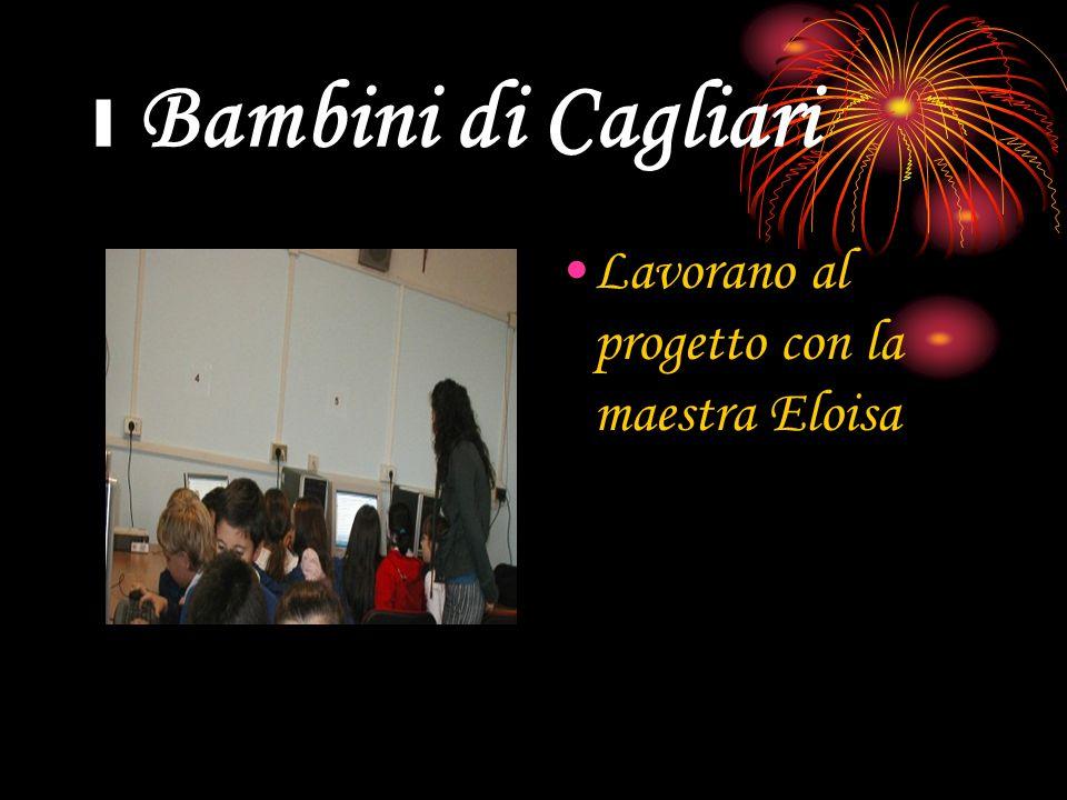 I Bambini di Cagliari Lavorano al progetto con la maestra Eloisa