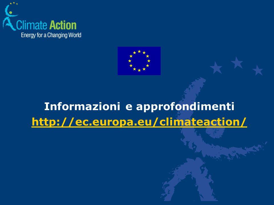 Informazioni e approfondimenti http://ec.europa.eu/climateaction/