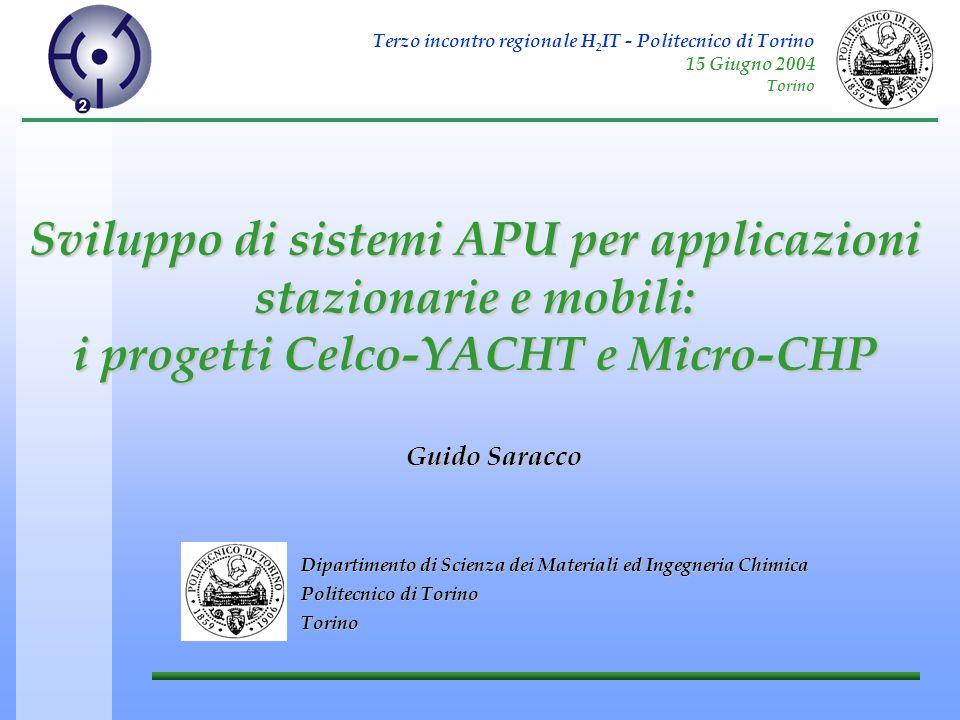 Terzo incontro regionale H 2 IT - Politecnico di Torino 15 Giugno 2004 Torino Sviluppo di sistemi APU per applicazioni stazionarie e mobili: i progett