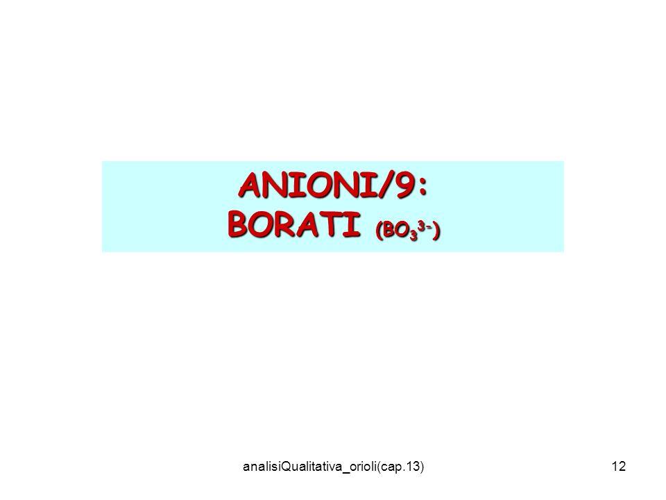 analisiQualitativa_orioli(cap.13)12 ANIONI/9: BORATI (BO 3 3- )