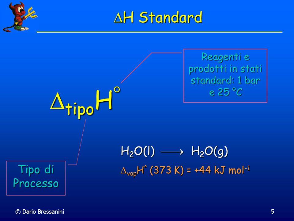 © Dario Bressanini6 Cambiamenti di Fase subl H ° = fus H ° + vap H ° subl H ° = fus H ° + vap H °
