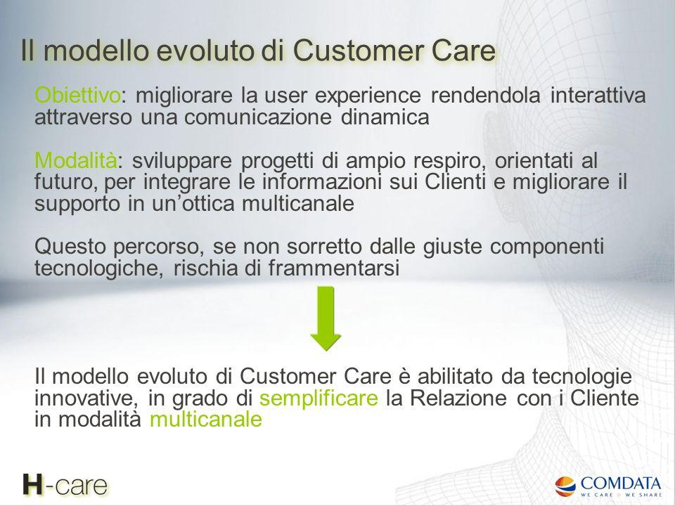 Obiettivo: migliorare la user experience rendendola interattiva attraverso una comunicazione dinamica Modalità: sviluppare progetti di ampio respiro,
