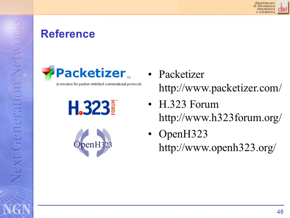 46 Reference Packetizer   H.323 Forum   OpenH323