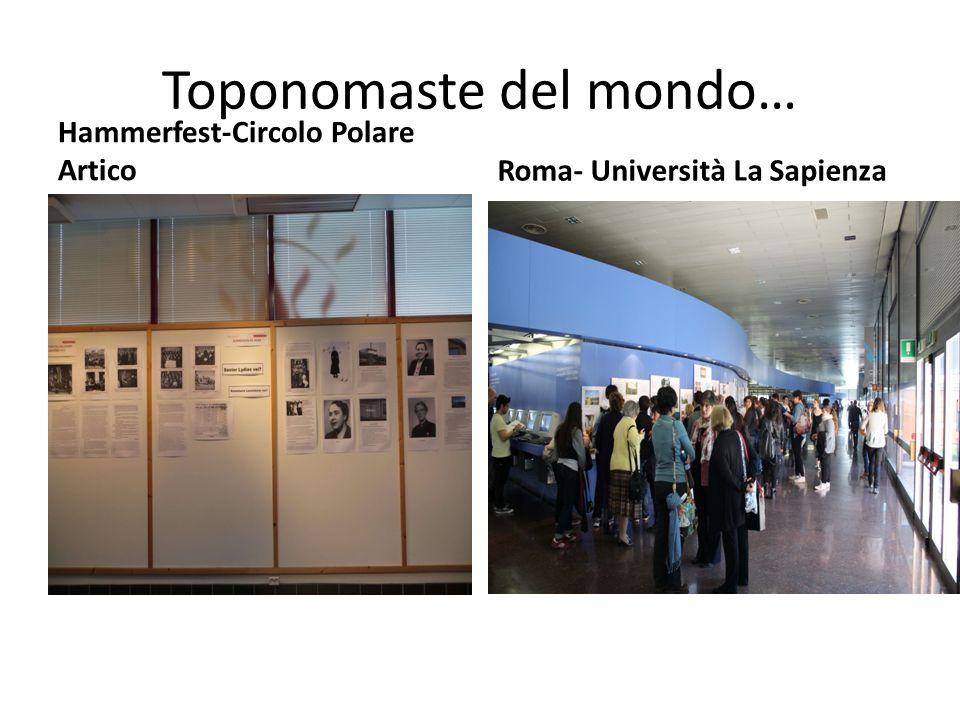 Toponomaste del mondo… Hammerfest-Circolo Polare Artico Roma- Università La Sapienza