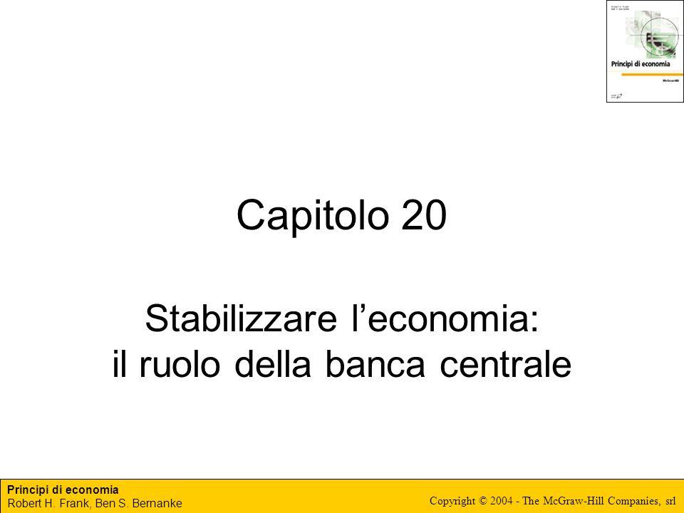 Principi di economia Robert H. Frank, Ben S. Bernanke Copyright © 2004 - The McGraw-Hill Companies, srl Capitolo 20 Stabilizzare leconomia: il ruolo d