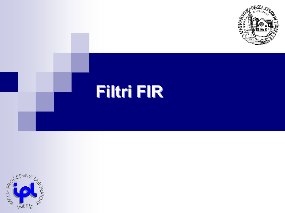 Filtri di Savitzky-Golay Filtro FIR a N=11 campioni tutti uguali