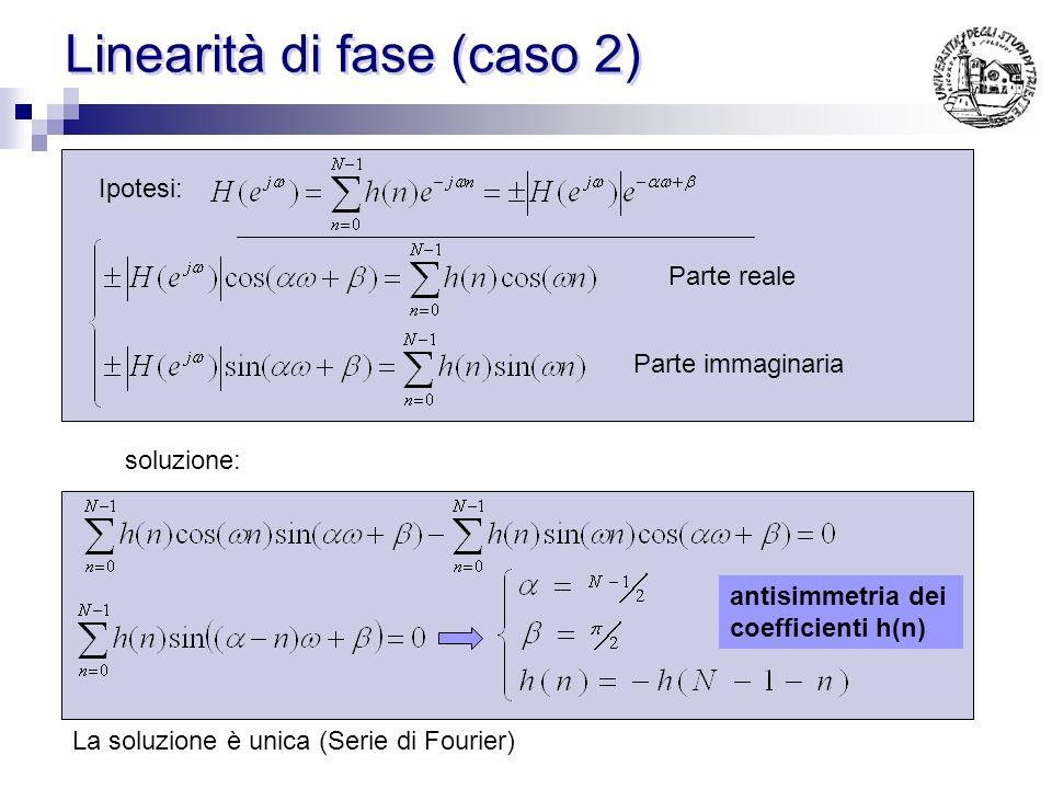 Esempio 2 h(n)= [ 1 2 3 1 1 3 2 1]