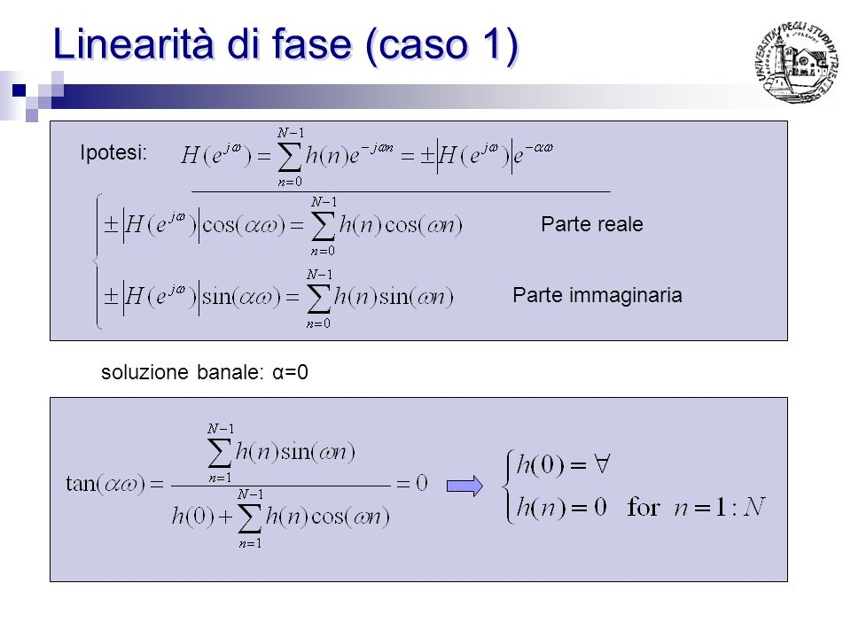 Esempio 4 h(n)= [ 1 2 3 -3 -2 -1]