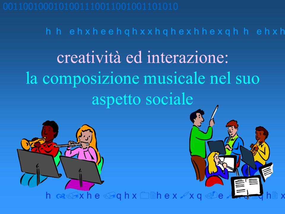 creatività ed interazione: la composizione musicale nel suo aspetto sociale 0011001000101001110011001001101010 h h e h x h e e h q h x x h q h e x h h