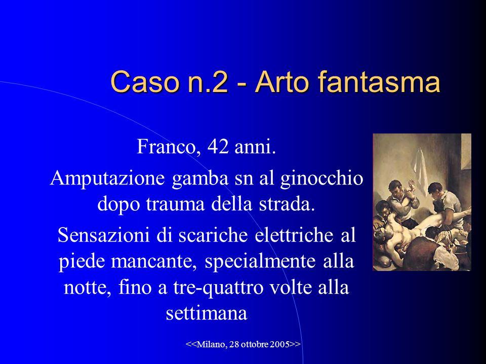 > Caso n.2 - Arto fantasma Franco, 42 anni.