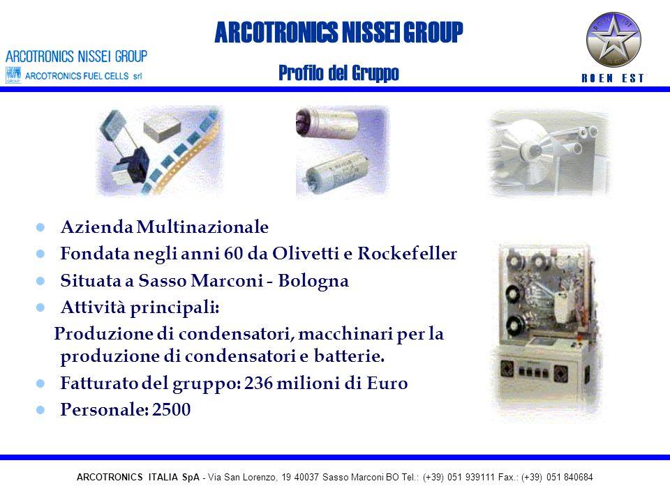 ARCOTRONICS SpA - Via San Lorenzo, 19 40037 Sasso Marconi BO Tel.: (+39) 051 939111 Fax.: (+39) 051 840684 Torino, 16 Giugno 2004 Arcotronics Fuel Cel