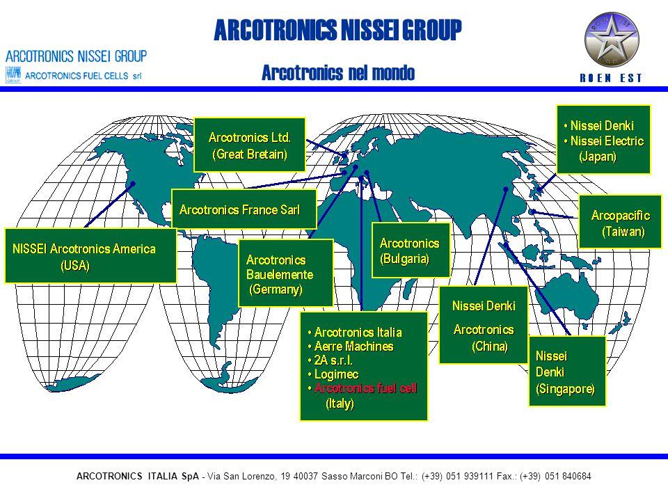 ARCOTRONICS NISSEI GROUP Arcotronics nel mondo ARCOTRONICS ITALIA SpA - Via San Lorenzo, 19 40037 Sasso Marconi BO Tel.: (+39) 051 939111 Fax.: (+39) 051 840684
