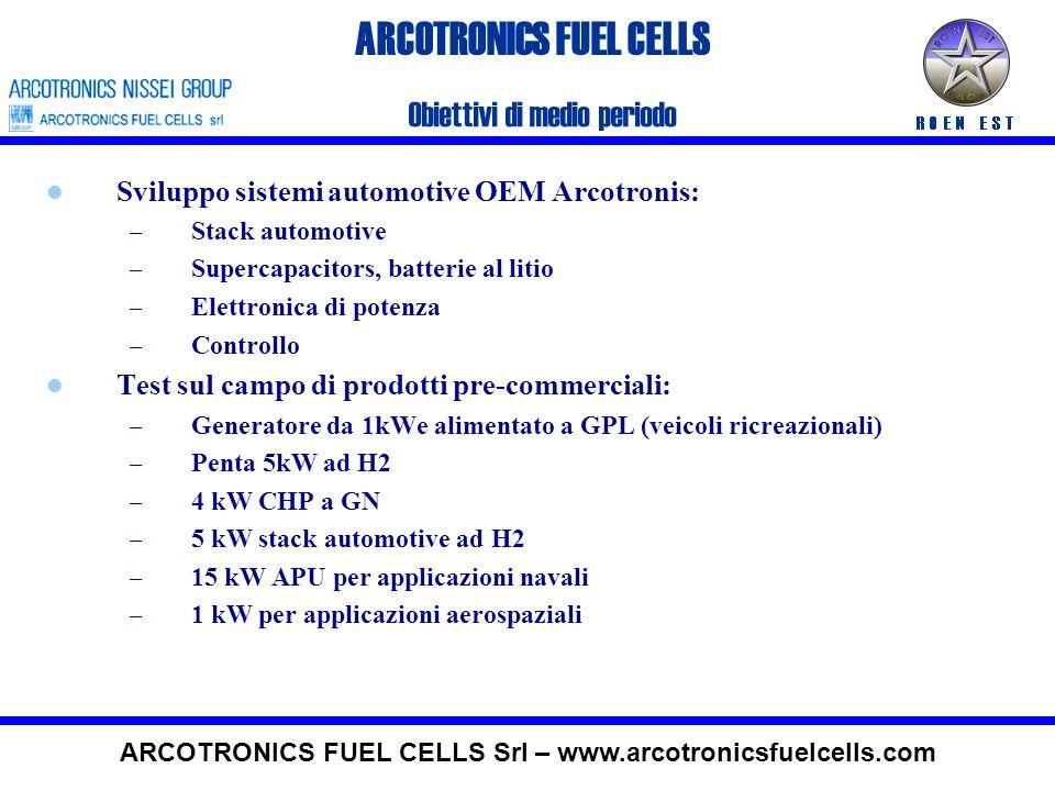 ARCOTRONICS FUEL CELLS 4 kWe, Micro CHP Caratteristiche principali del sistema Combustibile primarioGas naturale Potenza elettrica1-4 kw Potenza termi