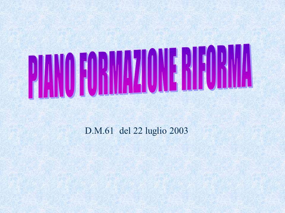 D.M.61 del 22 luglio 2003