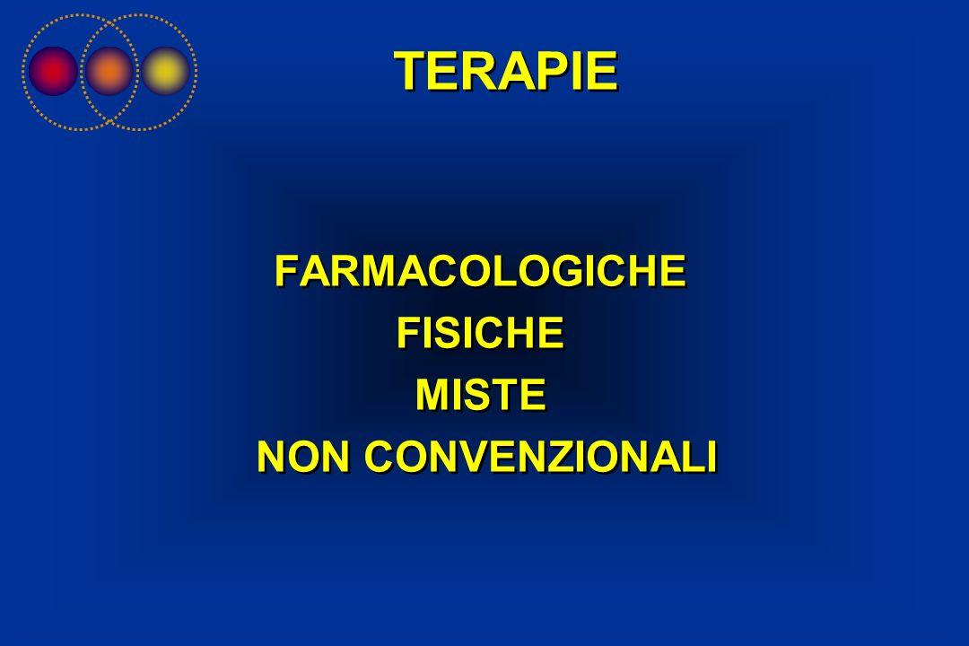 FARMACOLOGICHE FISICHE MISTE NON CONVENZIONALI FARMACOLOGICHE FISICHE MISTE NON CONVENZIONALI TERAPIE