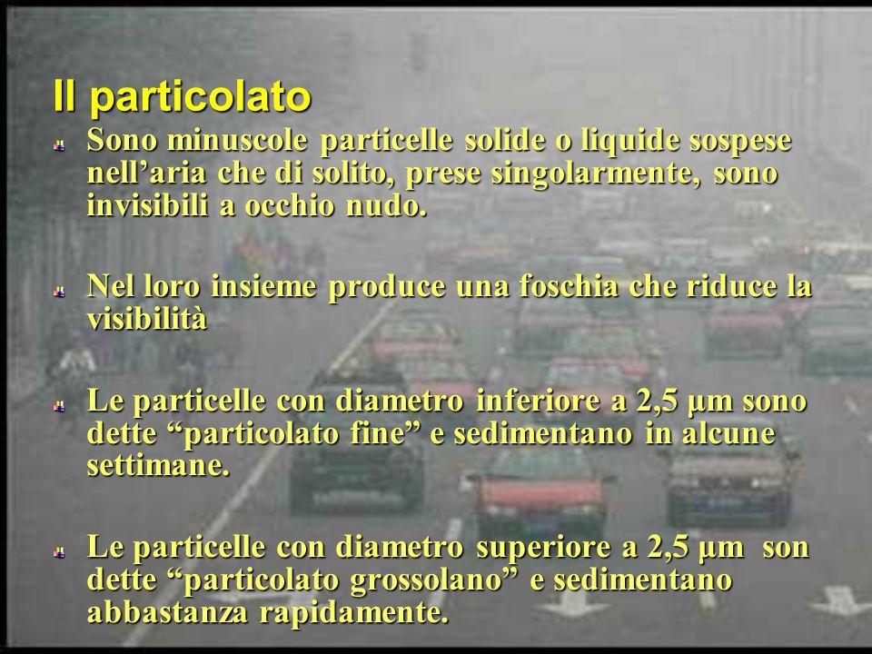 Il particolato Sono minuscole particelle solide o liquide sospese nellaria che di solito, prese singolarmente, sono invisibili a occhio nudo. Nel loro